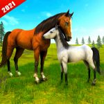 Wild Horse Family Simulator : Horse Games v1.1.12 APK Download For Android