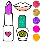 Download Beauty Drawing Pages Make Up Coloring Book Glitter v APK New Version