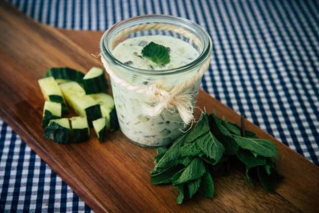 Gurkensuppe mit Joghurt & Minze