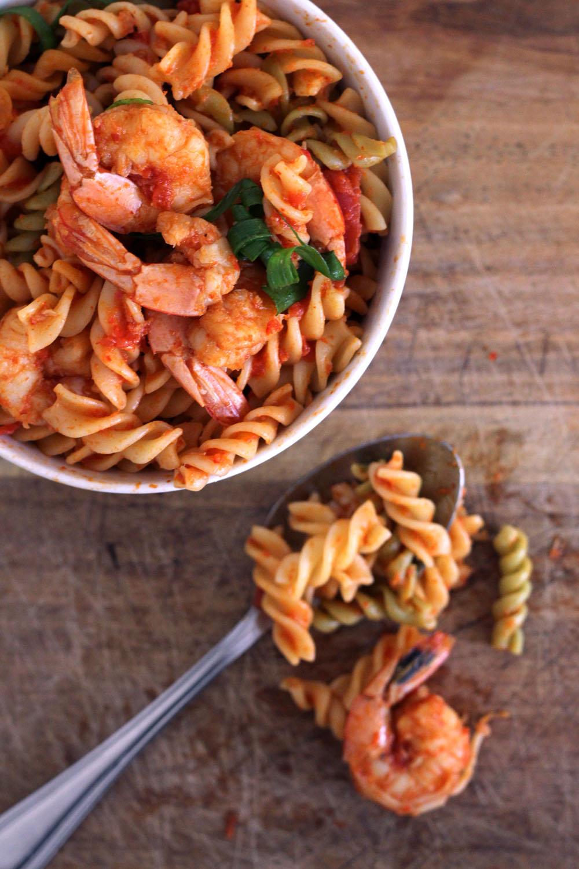 Weekend Kitchen: Sambal Prawn Pasta