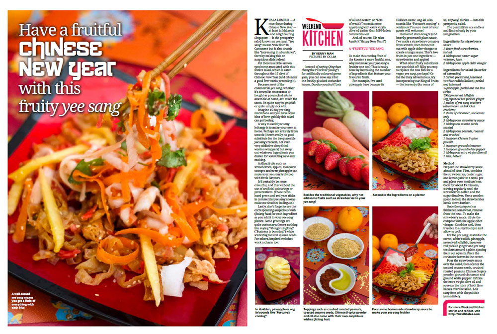 Weekend Kitchen: Fruity Yee Sang