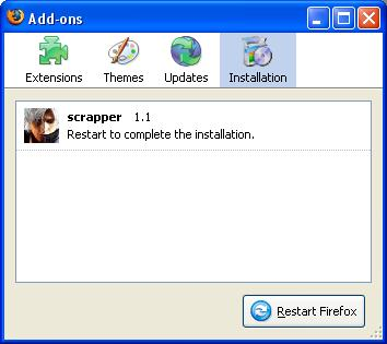 Installing Addon - Restart Firefox