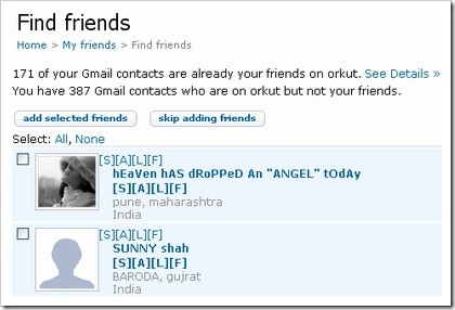 how to find friends in orkut