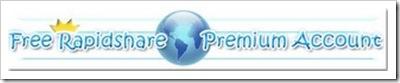 free rapidshare premium account