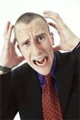 Irritated person