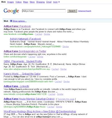 Google Caffeine Search
