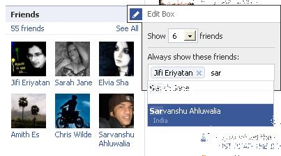 Display selected friends only in your facebok profile, always !