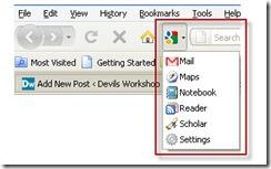 google shortcuts addon