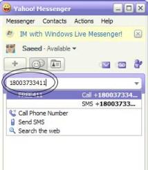 Make unlimited free calls worldwide using Yahoo Messenger!