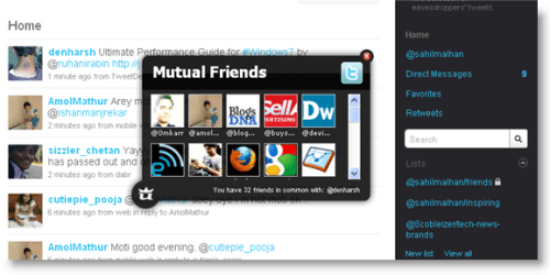 twitter mutual friends add-on