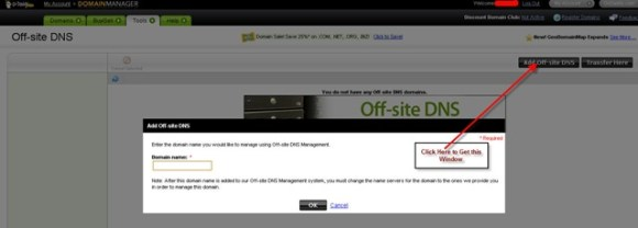 Off-site DNS