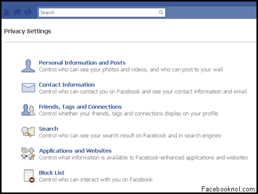 Privacy Settings 1