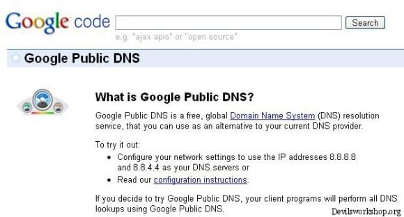 Google DNS service