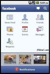Facebook 1.3 for android (1)
