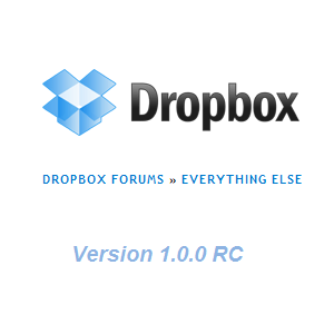 Download Dropbox 1 0 RC: Use New
