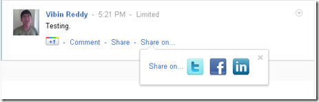 Share Google+ posts on other networks