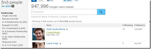 Find people on Google plus