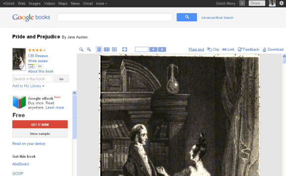Google Books new interface