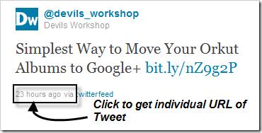 Lookup URL of Tweet on Twitter