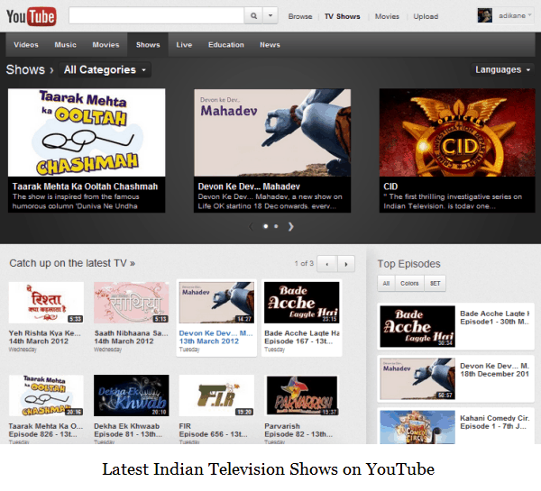Watch Episodes of Popular Indian TV Serials on YouTube!