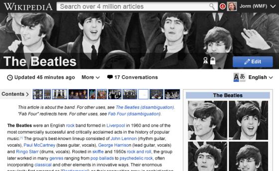 Wikipedia-redesign