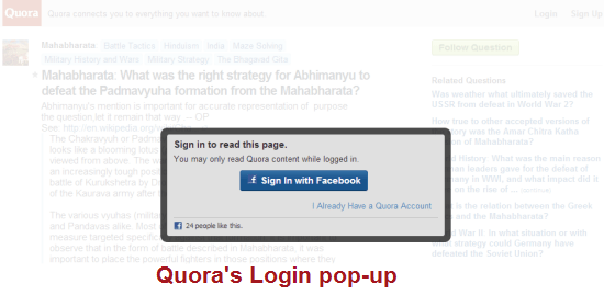 How To Block Automatic Quora Login Popup