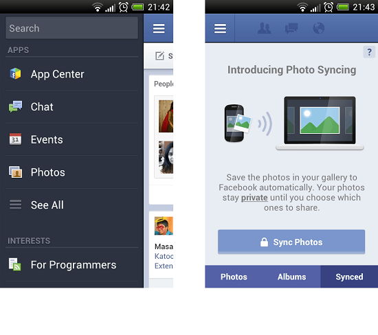 Facebook Automatic Photo Syncing
