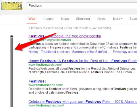 Festivus Google Easter Egg