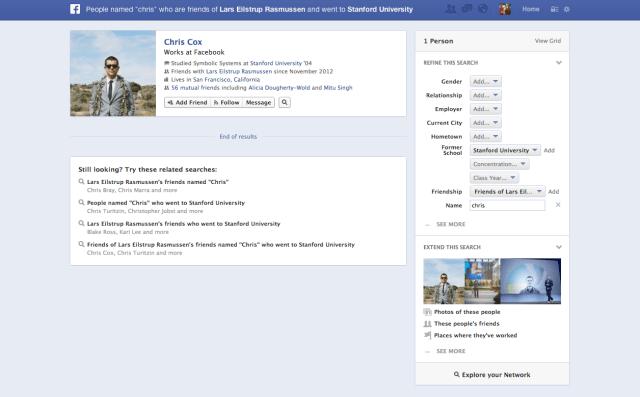 facebook graph search screenshots
