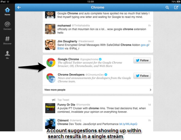Twitter Redesigns Search Results for Android / iPhone Apps