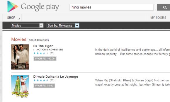 Google Play Hindi Movies