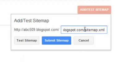 Submitting sitemap