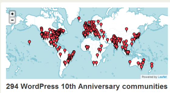 WordPress 10th Anniversary Meetups