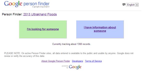 Google Person Finder
