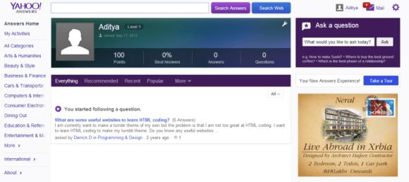 Yahoo Answers New