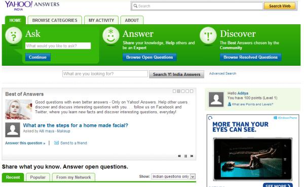 Yahoo Answers Old