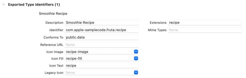 Example: Document Type configuration