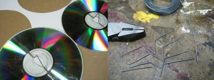 Making a baby mobile out of old CDs