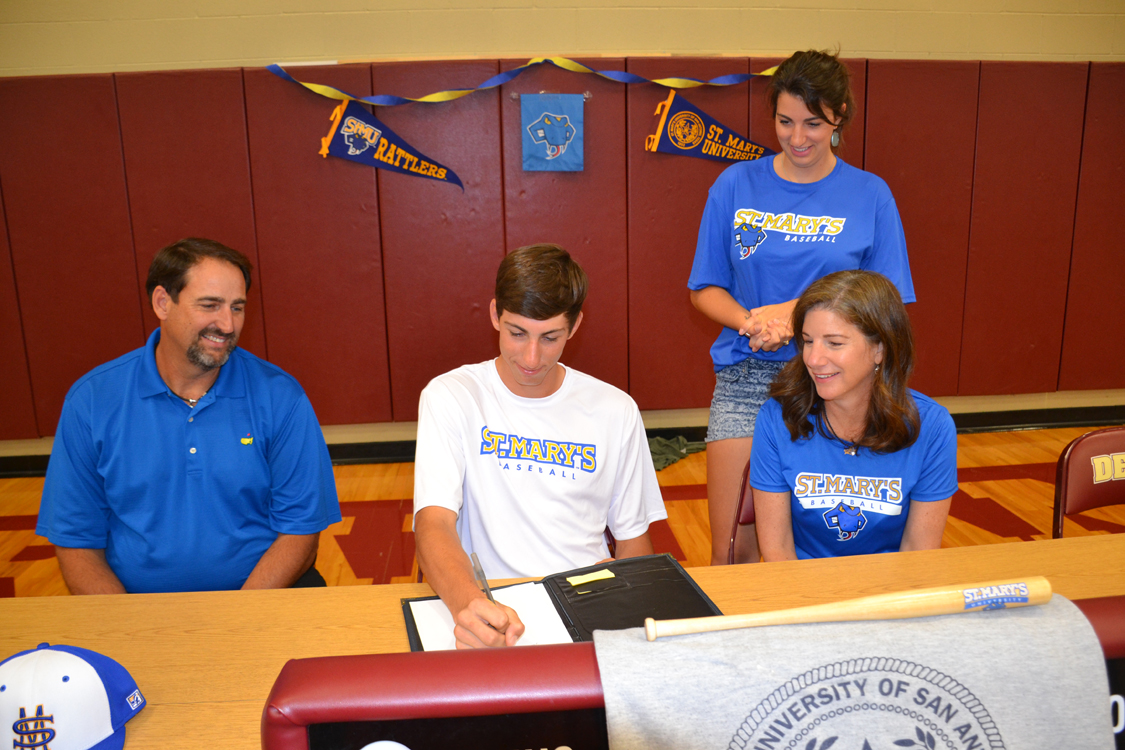 Recently Graduated Warhorse Baseball Player Connor Schmidt Signed A Letter  Of Intent To Pitch For St. Mary's University In San Antonio.