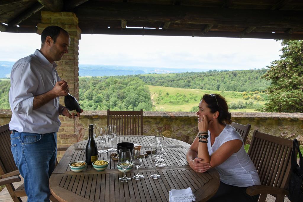 Wijnproeven bij Decugnano Dei Barbi