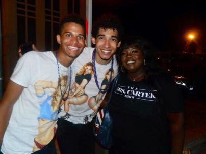 Crissy Collins, actress and vocalist, Darien Hutchinson and Devin Torkelsen