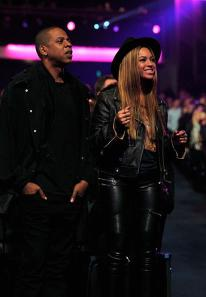 Jay Z and Beyonce at the Stevie Wonder: Songs In The Key of Life – An All-Star Grammy Salute event on Feb. 10, 2015.