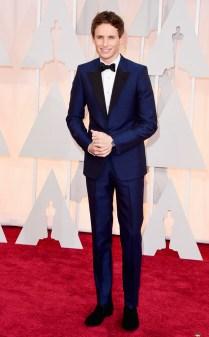 Eddie Redmayne at the 87th annual Academy Awards