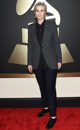 Jane Lynch at the 57th annual Grammy Awards.
