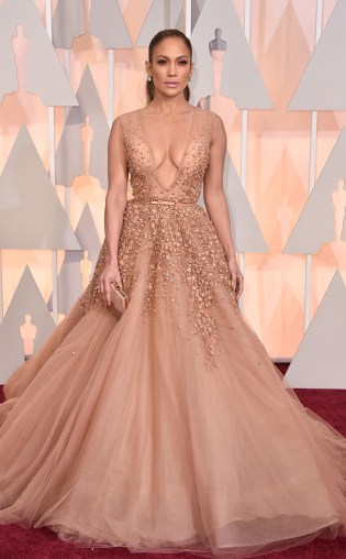 Jennifer Lopez at the 87th annual Academy Awards