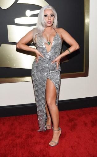 Lady Gaga at the 57th annual Grammy Awards