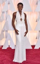 Lupita Nyong'o at the 87th annual Academy Awards
