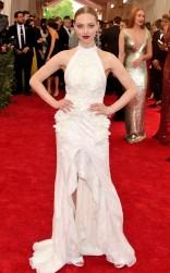 Amanda Seyfried at the 2015 Met Gala on May 4, 2015 at the Costume Institute Benefit Gala at the Metropolitan Museum of Art in New York.