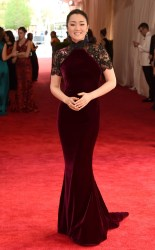 Gong Li at the 2015 Met Gala on May 4, 2015 at the Costume Institute Benefit Gala at the Metropolitan Museum of Art in New York.