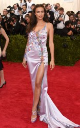 Irina Shayk at the 2015 Met Gala on May 4, 2015 at the Costume Institute Benefit Gala at the Metropolitan Museum of Art in New York.